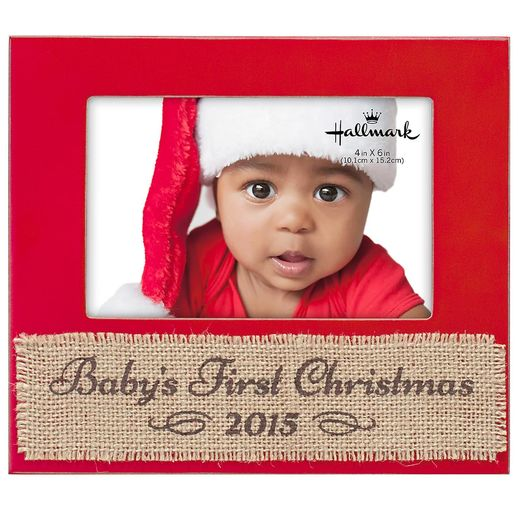 babys first christmas 2015 4x6 wood malden frame
